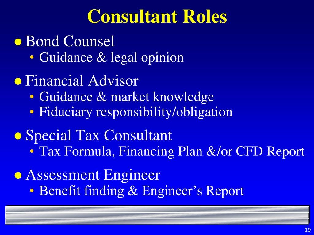 Consultant Roles
