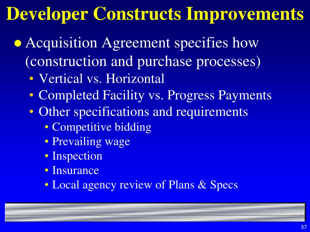 Developer Constructs Improvements