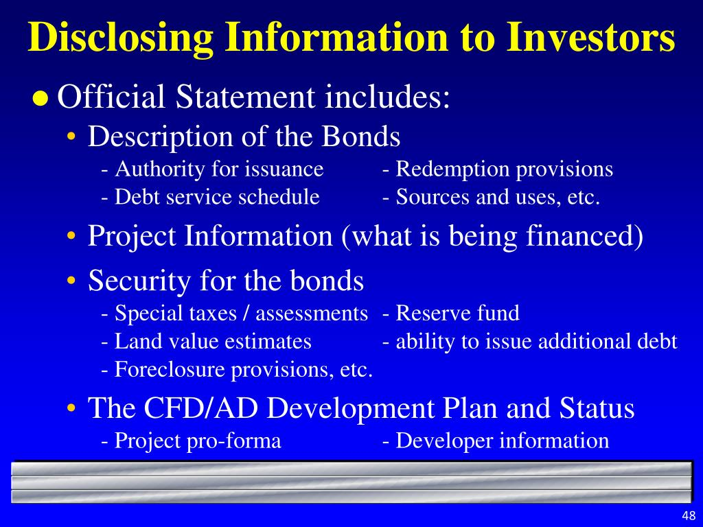 Disclosing Information to Investors
