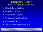 engineer s report s h code 10204 1913 act