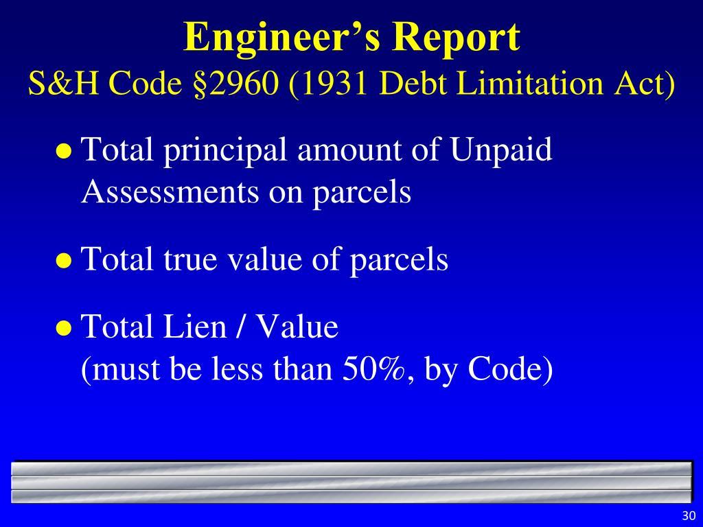 Engineer's Report