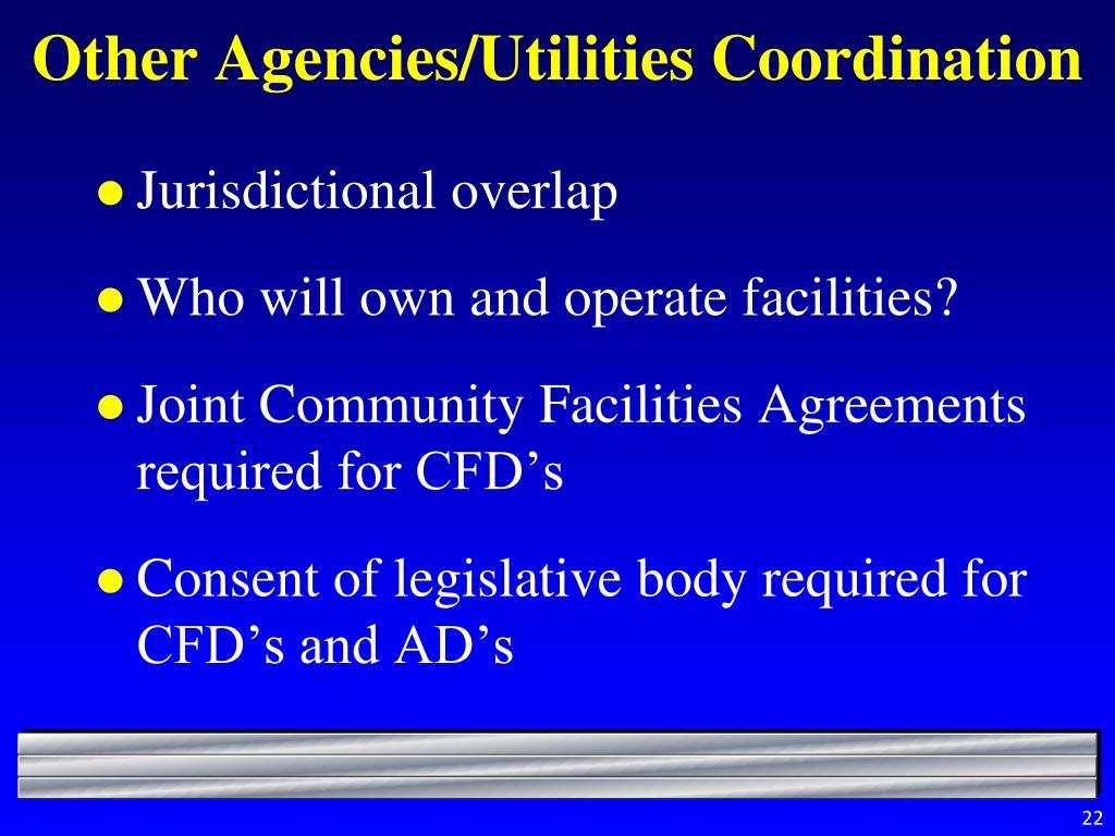 Other Agencies/Utilities Coordination
