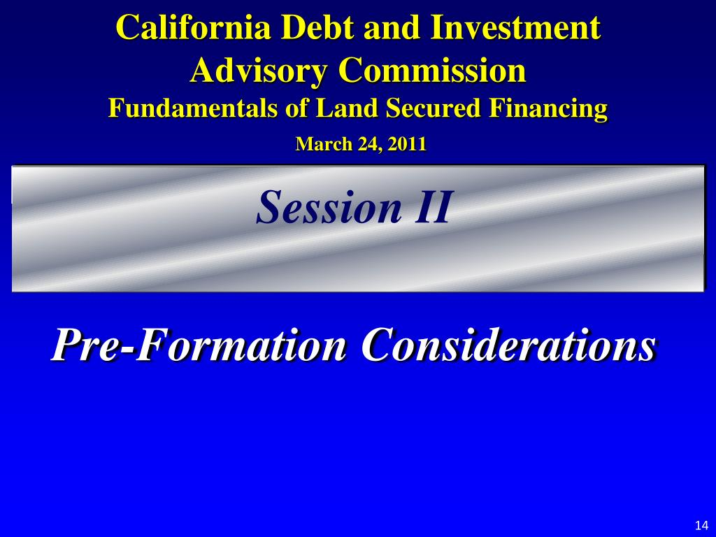California Debt and Investment Advisory Commission