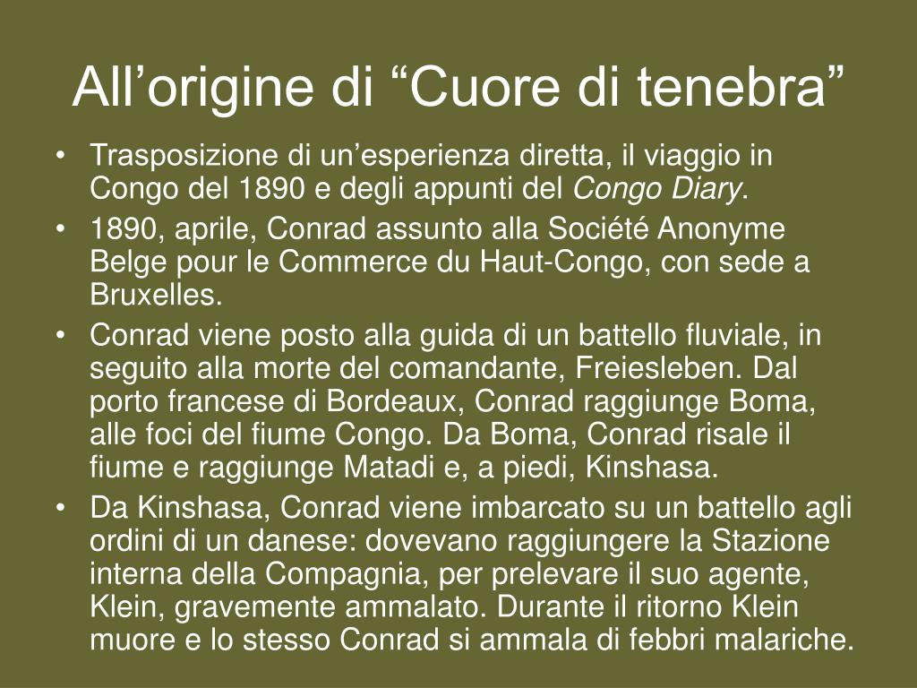 "All'origine di ""Cuore di tenebra"""