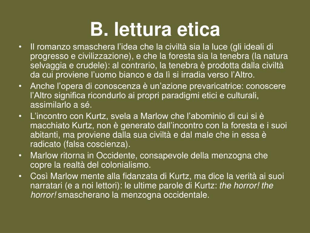 B. lettura etica