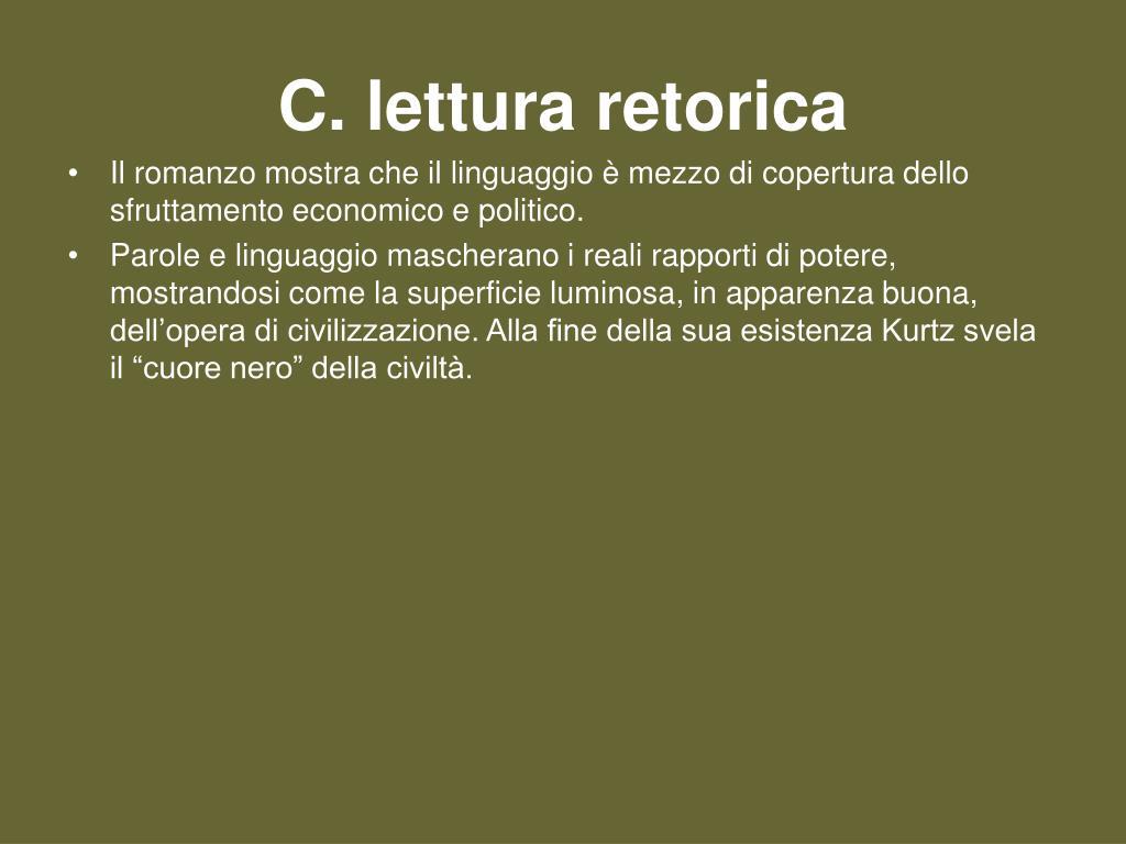 C. lettura retorica