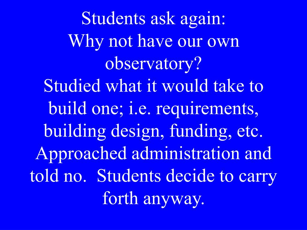 Students ask again: