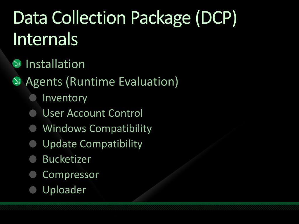 Data Collection Package (DCP) Internals