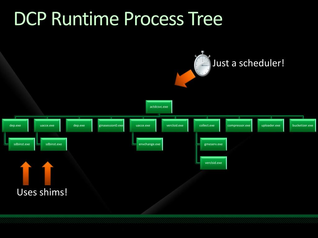 DCP Runtime Process Tree