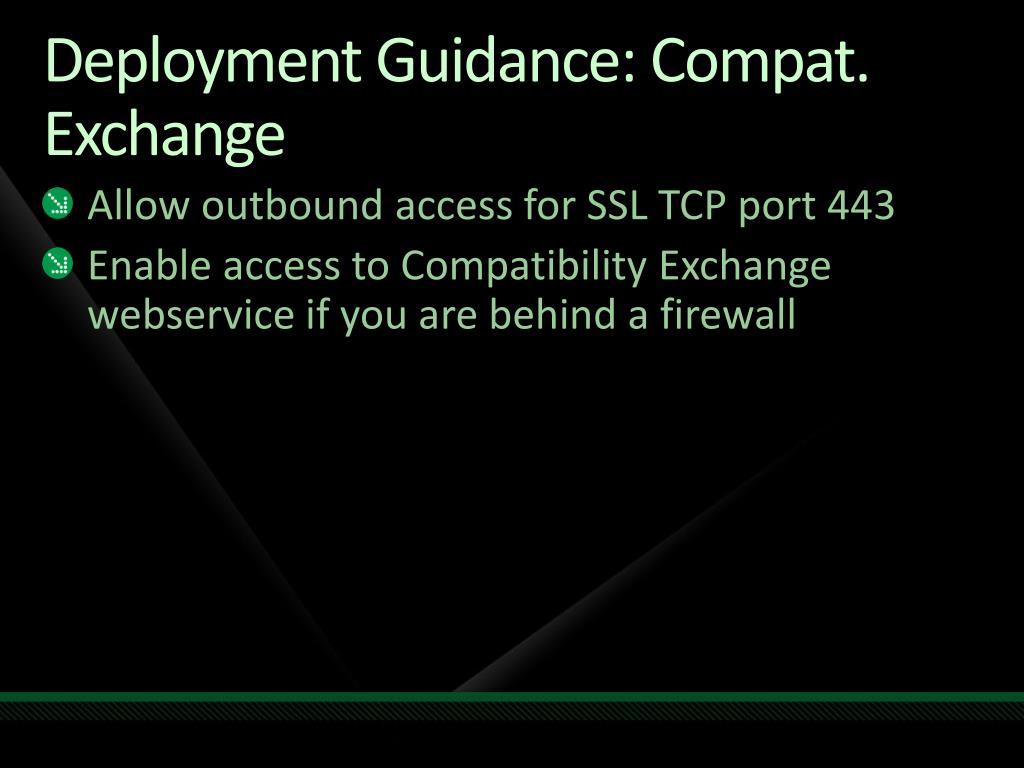 Deployment Guidance:
