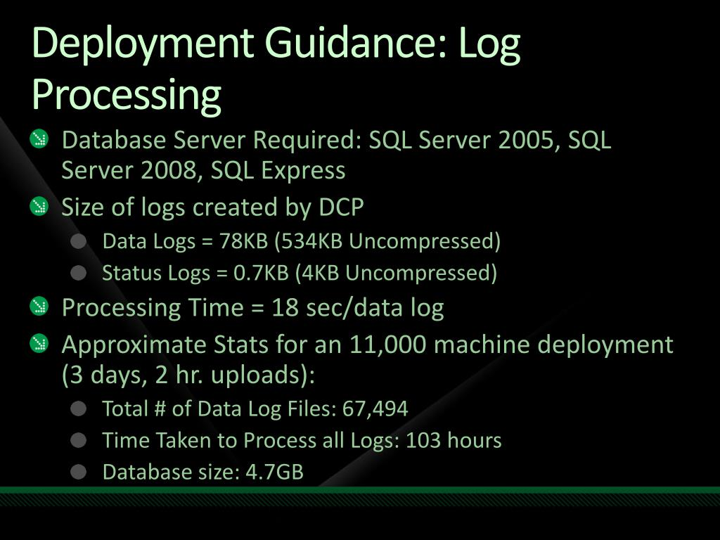 Deployment Guidance: Log Processing