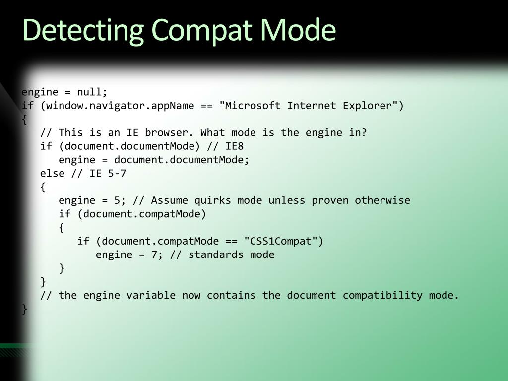 Detecting Compat Mode