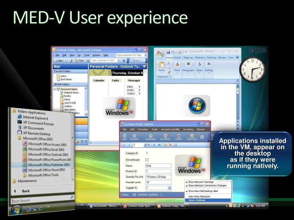 MED-V User experience