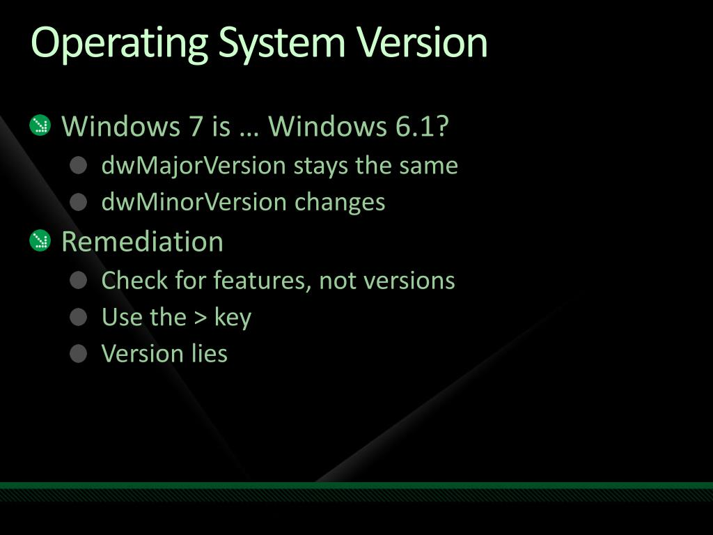 Operating System Version