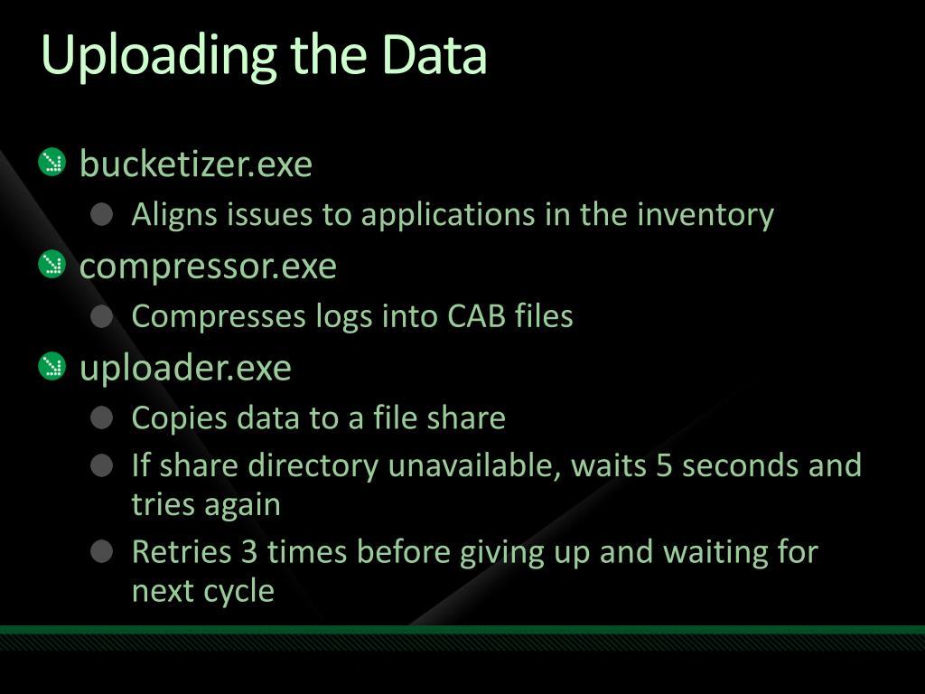 Uploading the Data