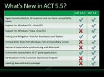 what s new in act 5 5