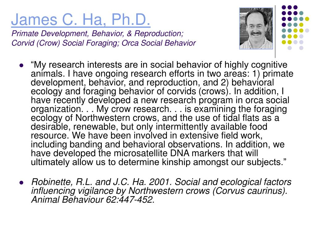 James C. Ha, Ph.D.