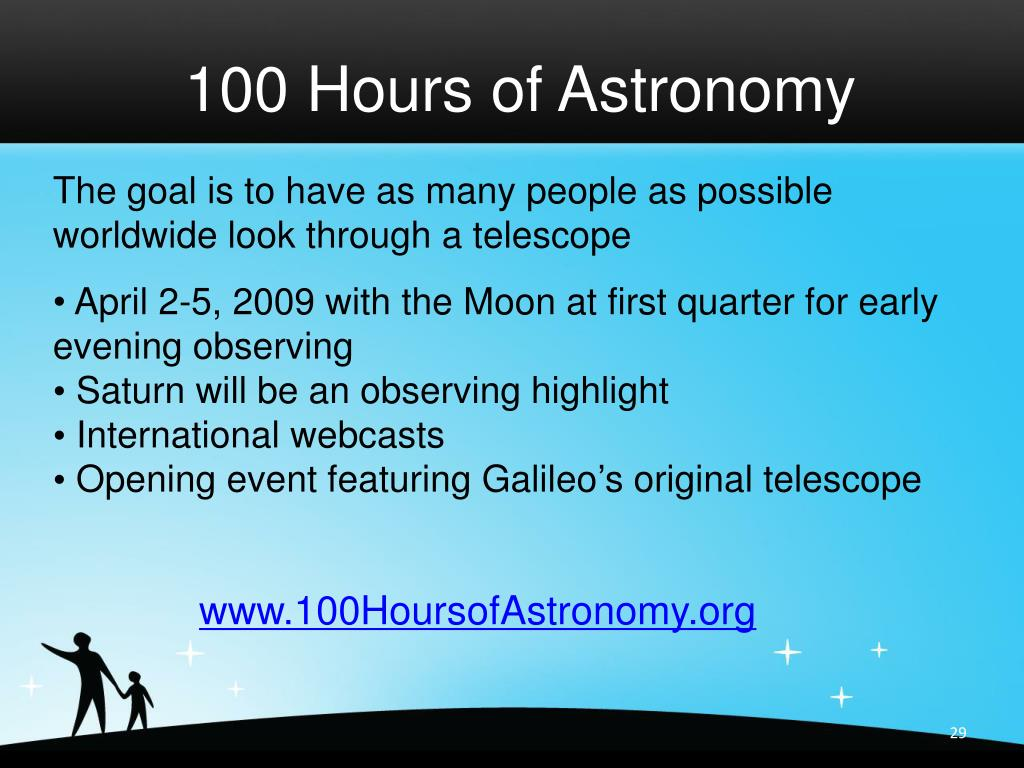 100 Hours of Astronomy