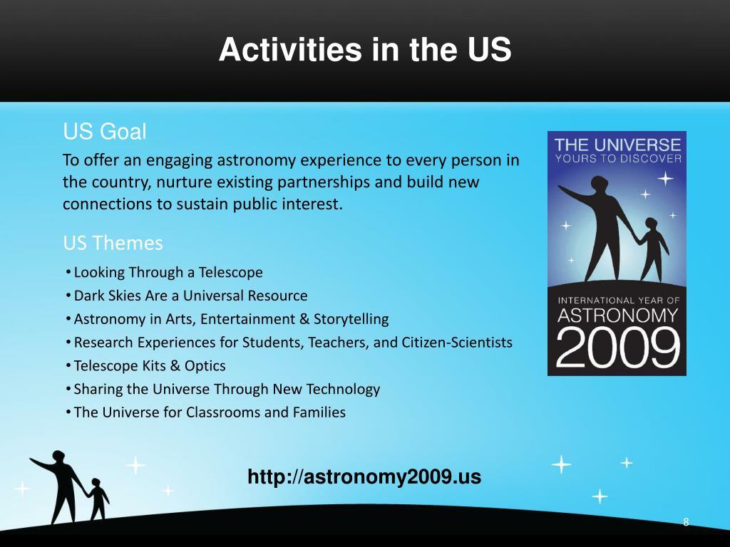 Activities in the US
