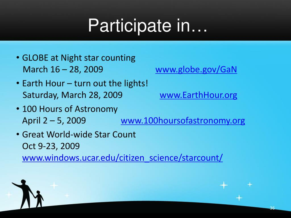 Participate in…