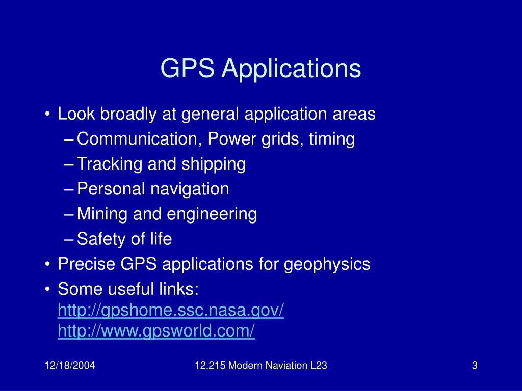 GPS Applications