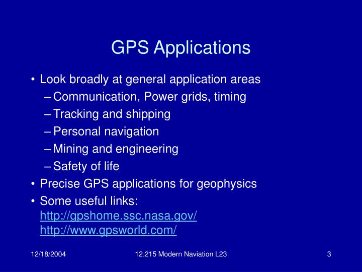 Gps applications l.jpg
