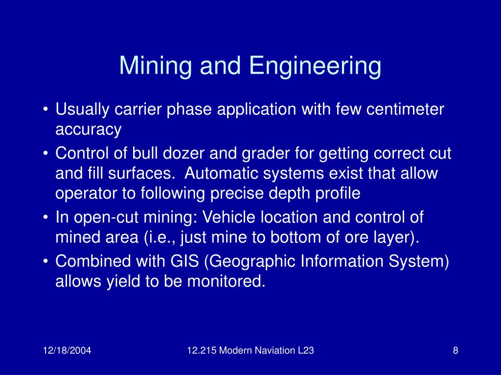 Mining and Engineering