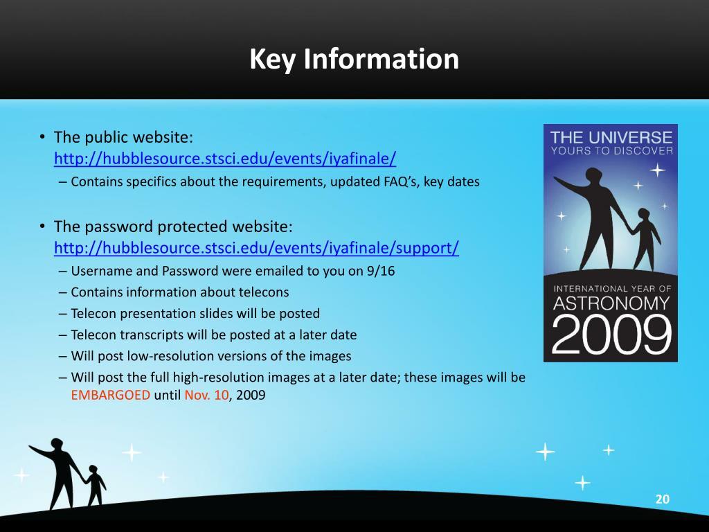 Key Information