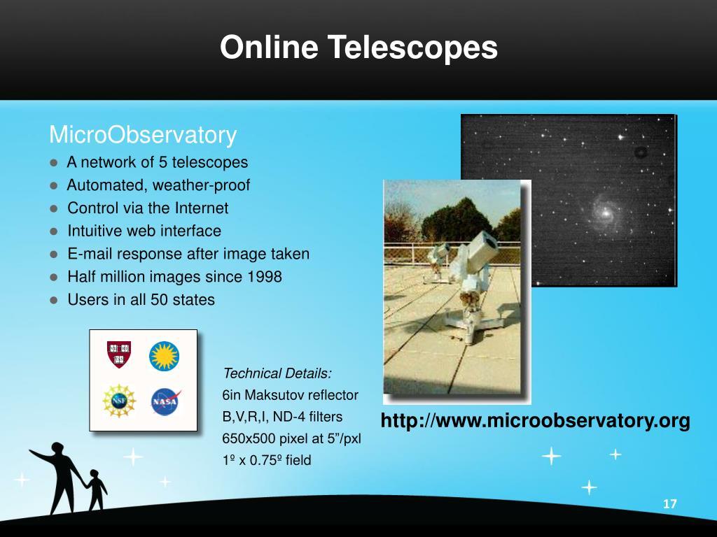 Online Telescopes