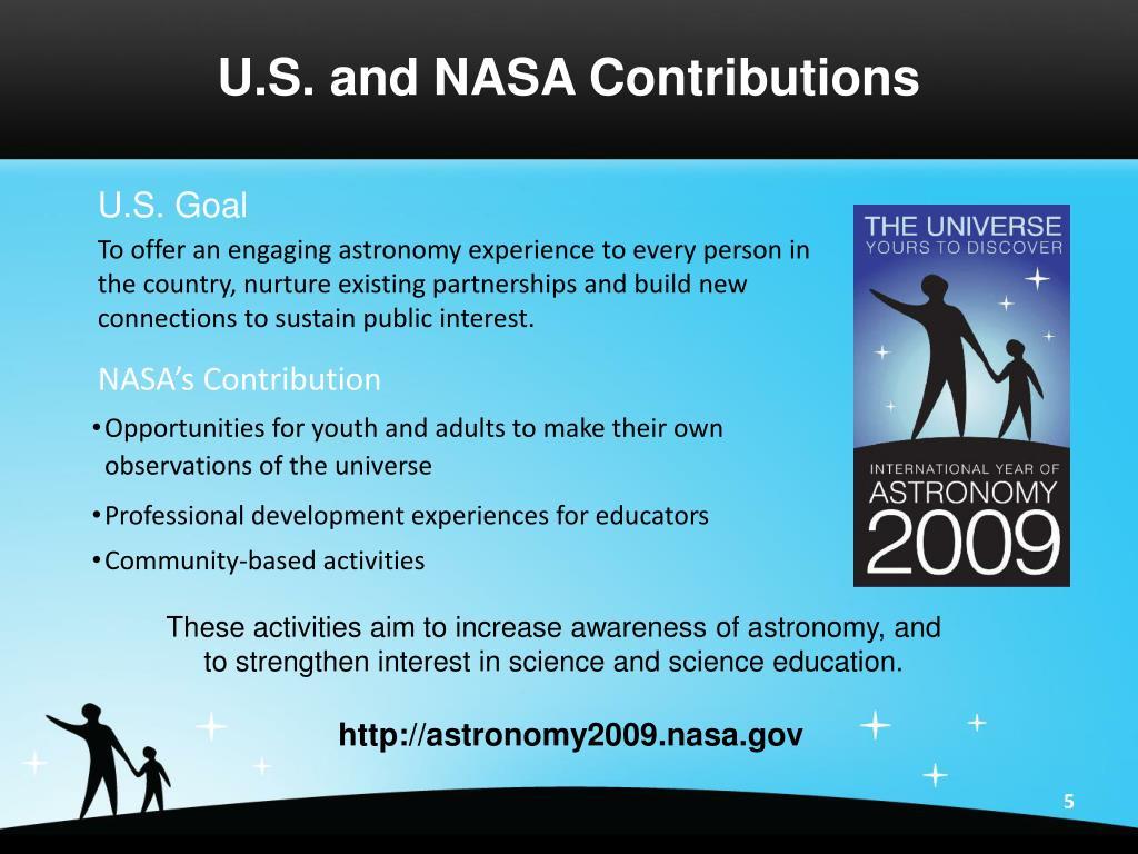 U.S. and NASA Contributions