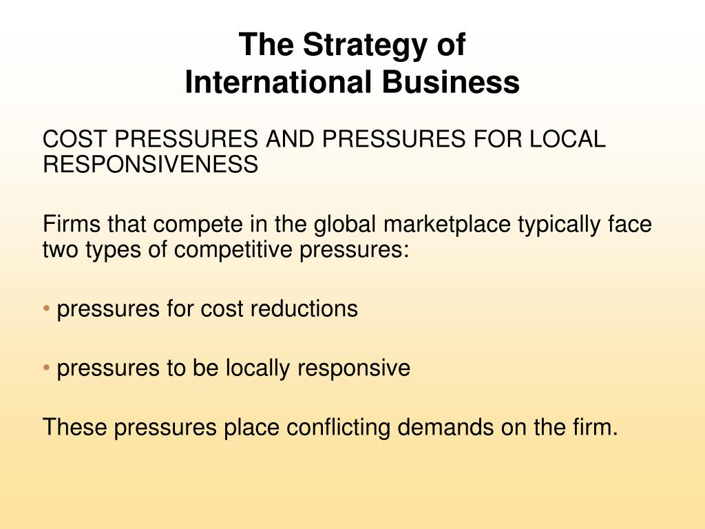 pressures nissan faces with local responsiveness Power point set #11: international strategy questions concerning international strategy what is the economic value of international strategies, according to richard caves of harvard.