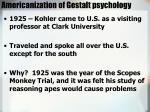 americanization of gestalt psychology
