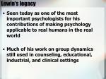 lewin s legacy