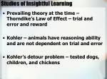 studies of insightful learning
