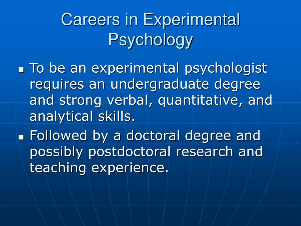 Careers in Experimental Psychology