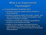 what is an experimental psychologist