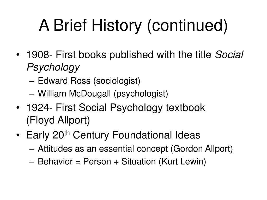 A Brief History (continued)