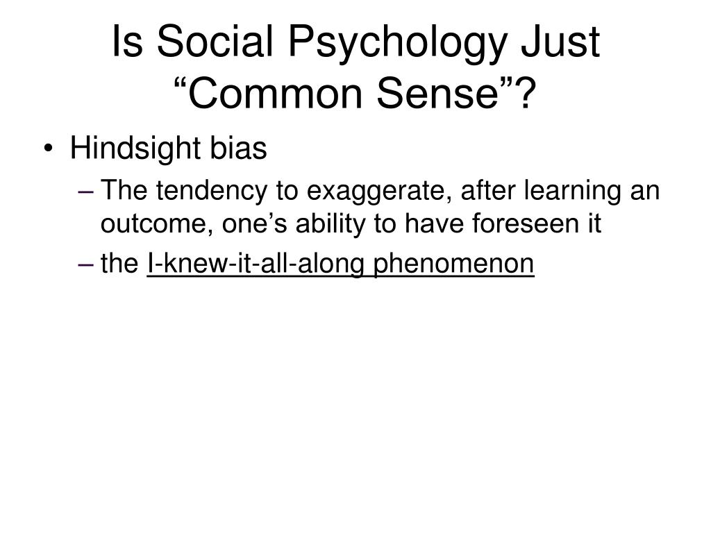 Is Social Psychology Just