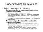 understanding correlations