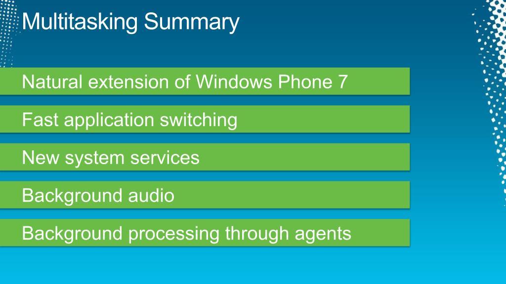 Multitasking Summary