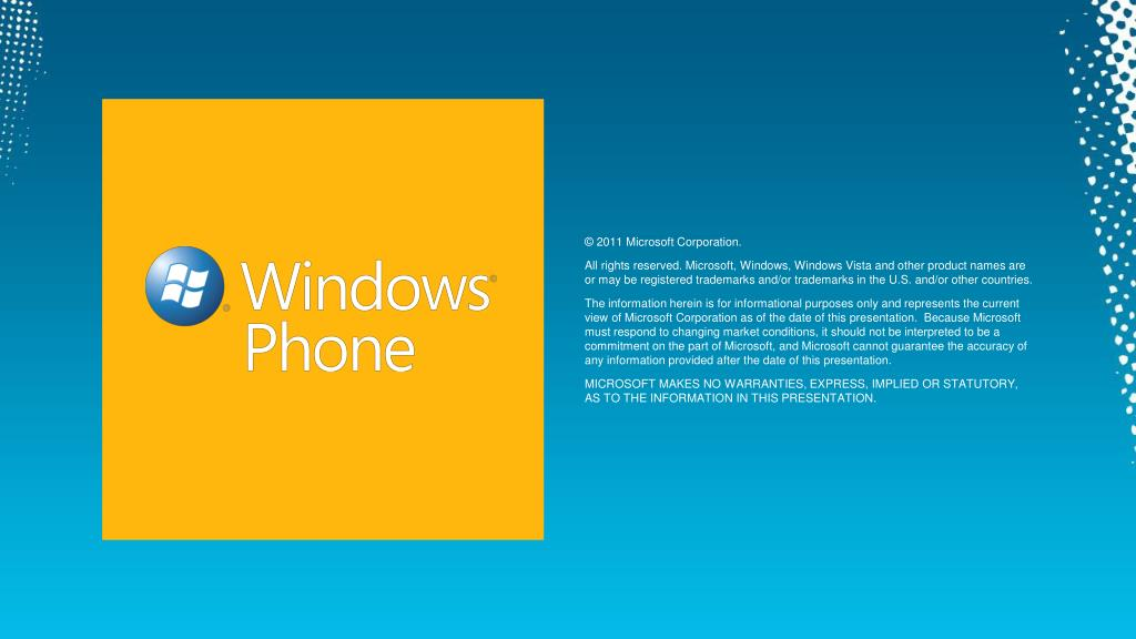 © 2011 Microsoft Corporation.
