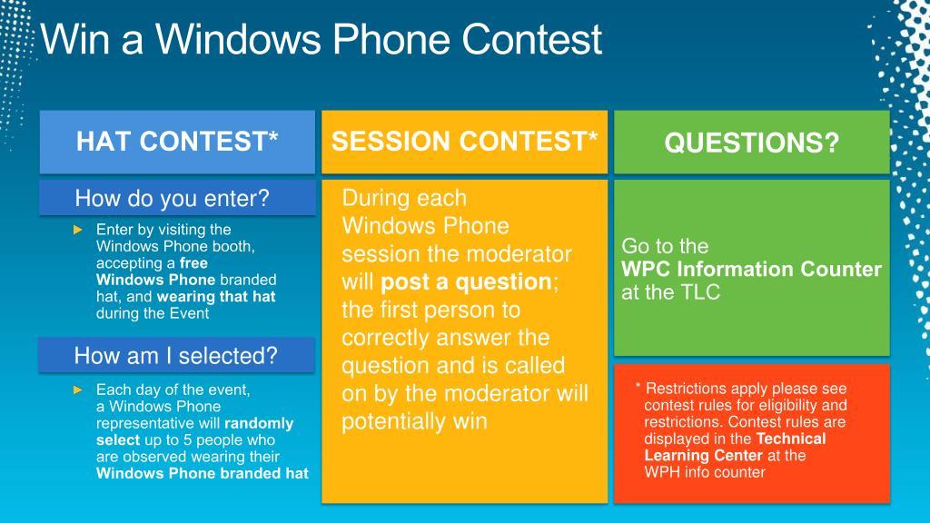 Win a Windows Phone Contest