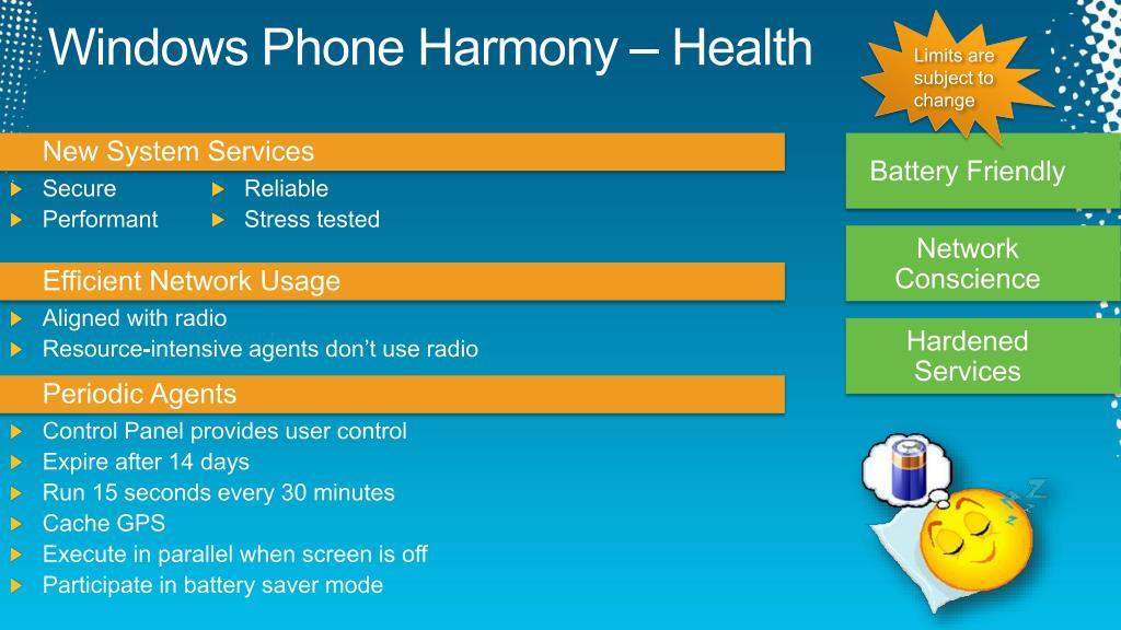 Windows Phone Harmony – Health