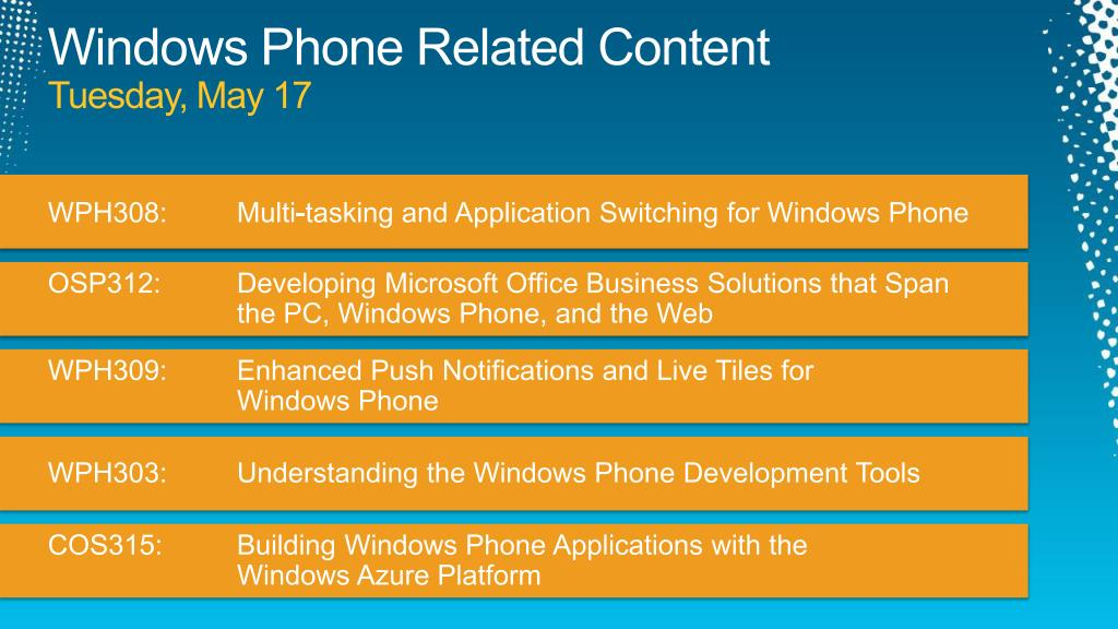 Windows Phone Related Content
