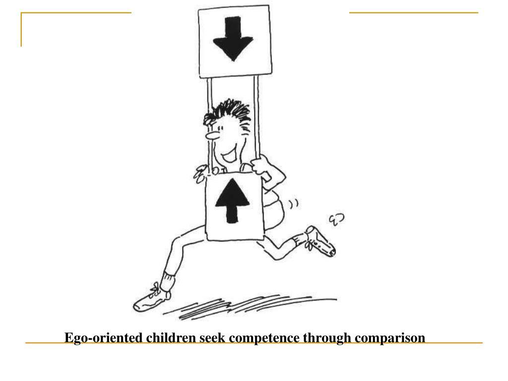 Ego-oriented children seek competence through comparison