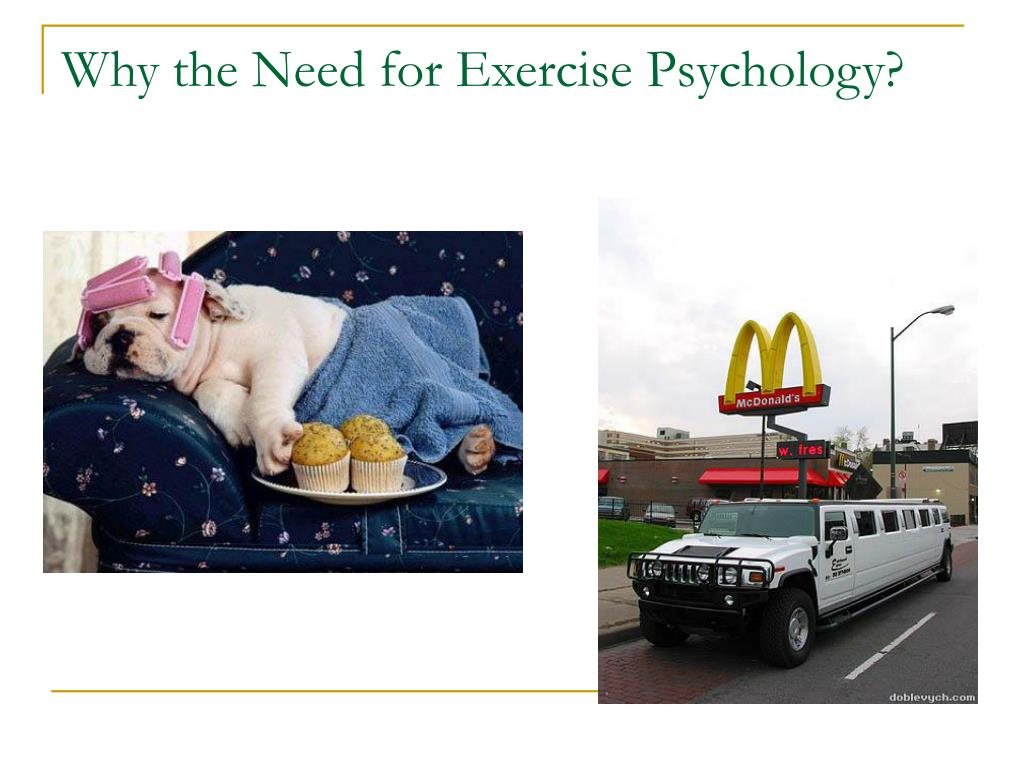 Why the Need for Exercise Psychology?
