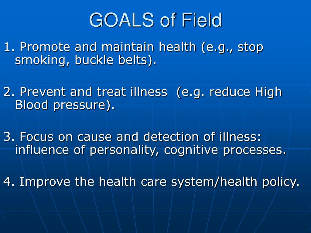 GOALS of Field