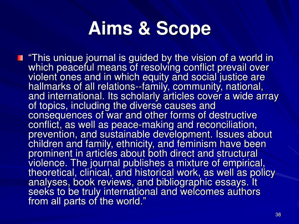 Aims & Scope