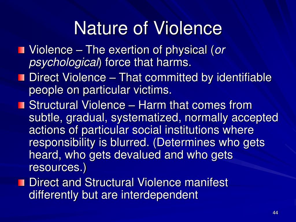 Nature of Violence