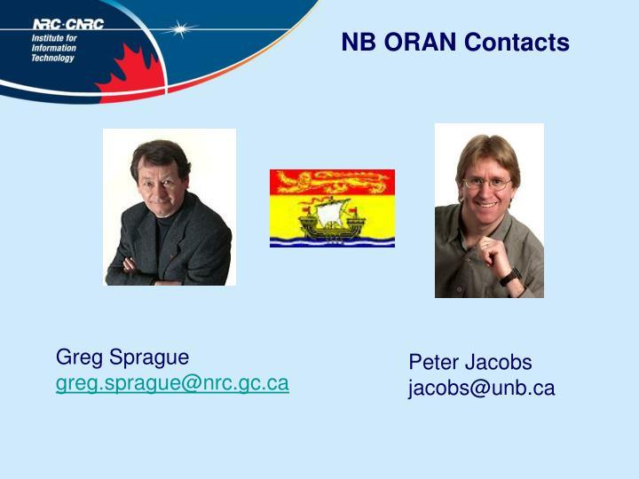 NB ORAN Contacts